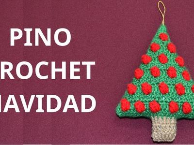 Pino Navidad en tejido crochet tutorial paso a paso.