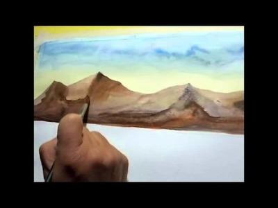 Pintar con acuarelas un paisaje