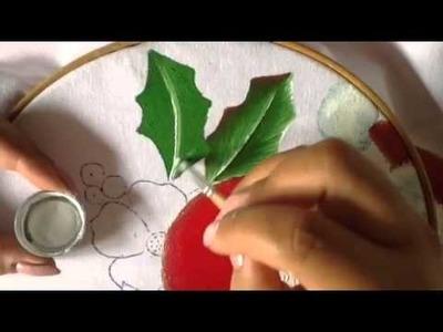 Pintura en tela hojas de santa # 4 con cony