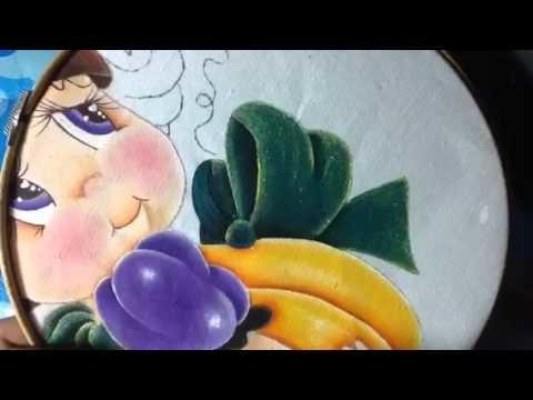 Pintura en tela niña calabaza # 6 con cony