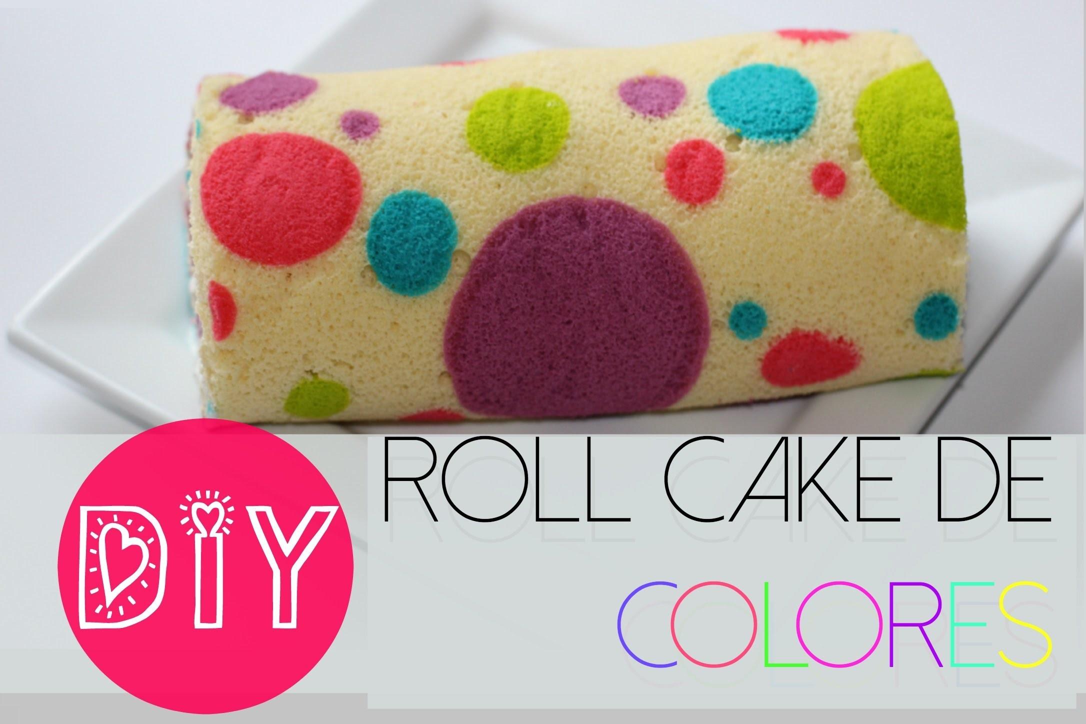 PREPARA UN COLORIDO CAKE ROLL FÁCIL
