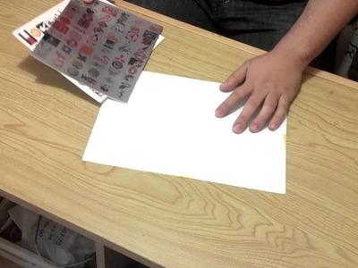 Stickers o Calcomanias en Vinil sublimable blanco y plata paso a paso.