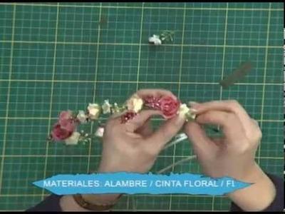 Tiara de flores para damitas 2da parte