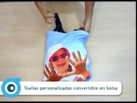 Toalla personalizada convertible en bolsa