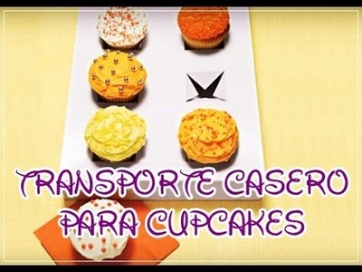 Transporte casero para cupcakes