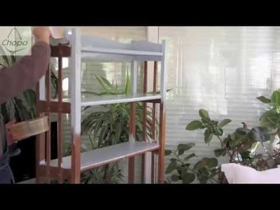 Tutorial: cómo reciclar una estantería con pintura Chalky
