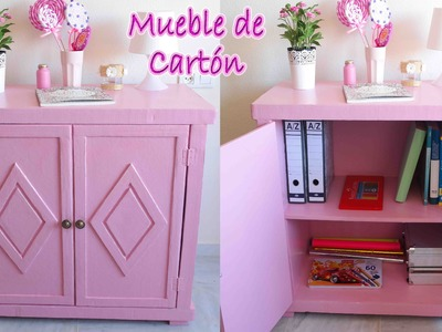 Tutorial mueble de cartón vintage - Mery