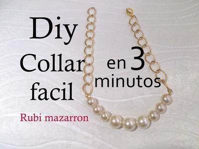 Diy. Crea tu collar de moda en 4 minutos.