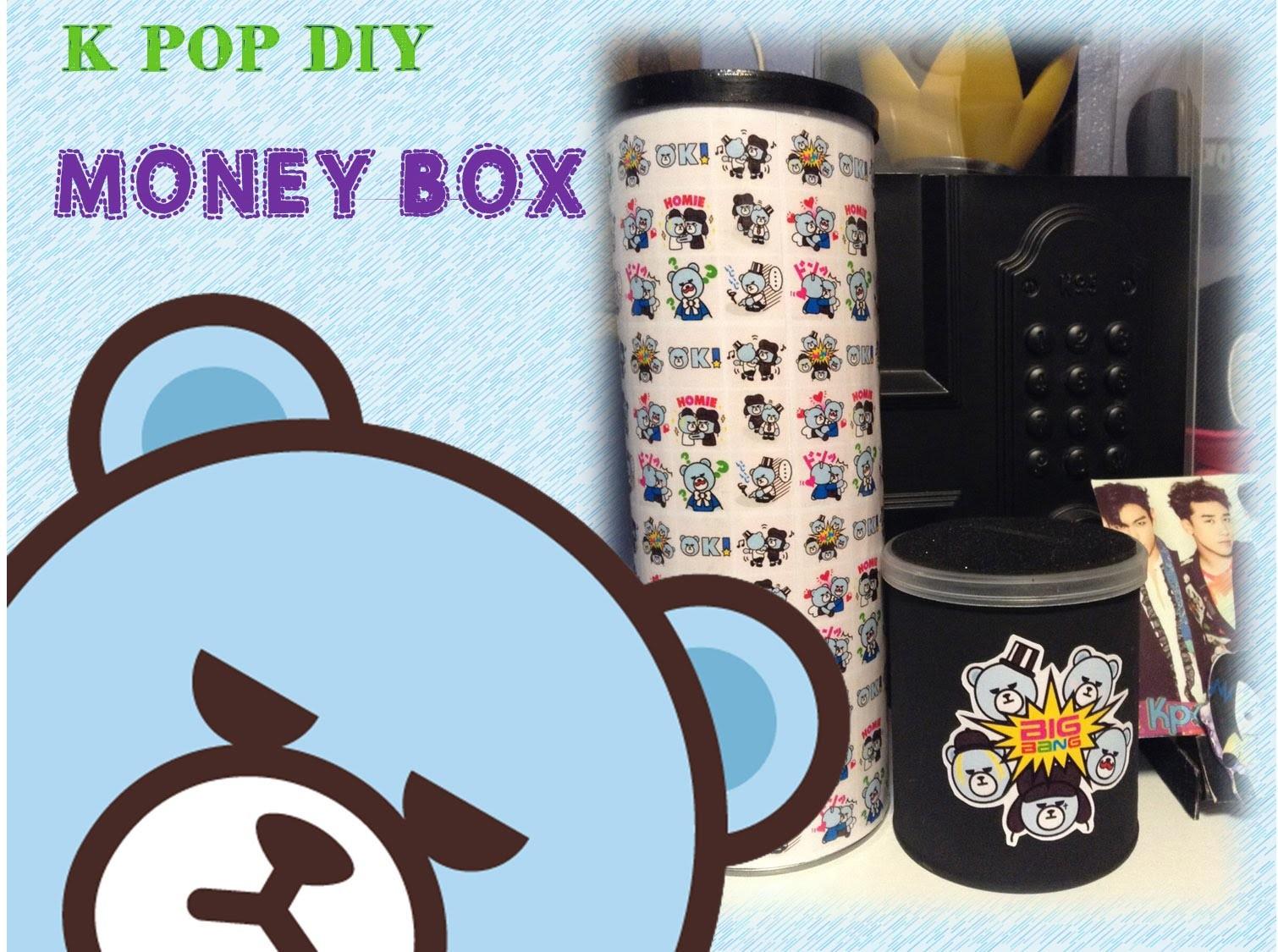 KPOP DIY Cómo hacer una alcancía (BIGBANG)
