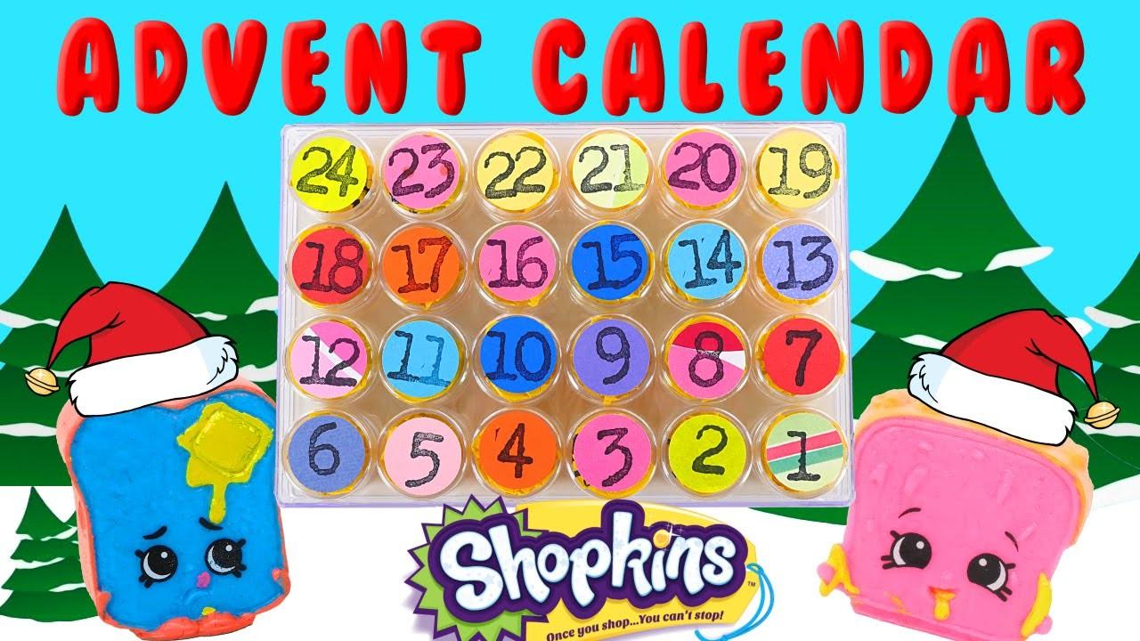 Calendario Shopkins!!! 24 Dias DE JUGUETES Sorpresa - DIY Manualidades 24 Shopkins Sorpresa ☺
