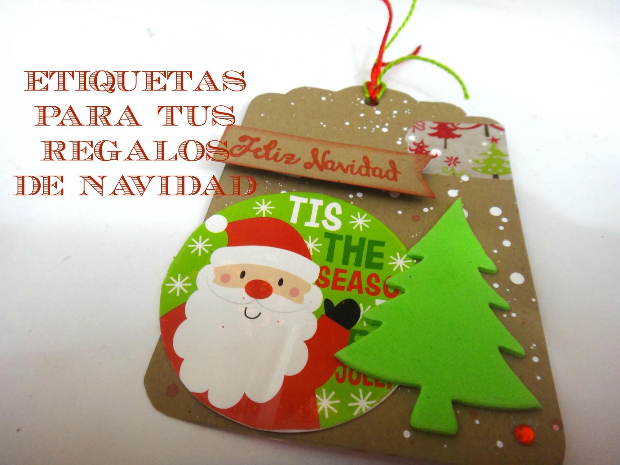Como hacer etiquetas navideñas para tus regalos -  DIY para navidad