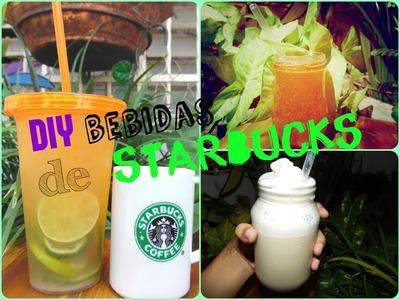 DIY BEBIDAS DE STARBUCKS |fizzio,shake ice tea,frapuccino vainilla?
