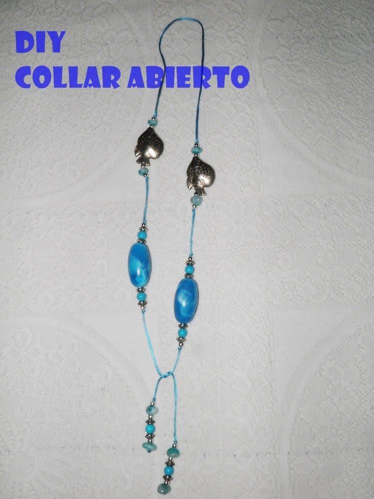 DIY Collar abierto o de tipo Lariat