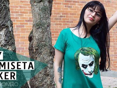 DIY  Cómo hacer camiseta o playera de Joker - Guason SIN MOLDES