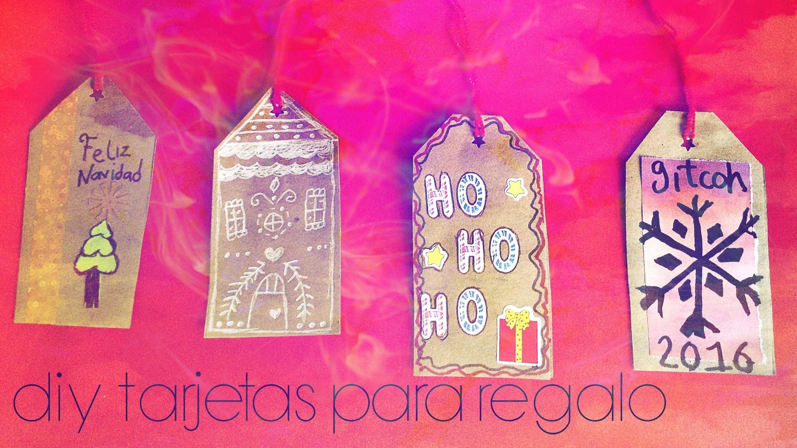 DIY Haz tus tarjetas de regalo #Navidad