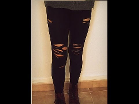 DIY leggins rotos ۞