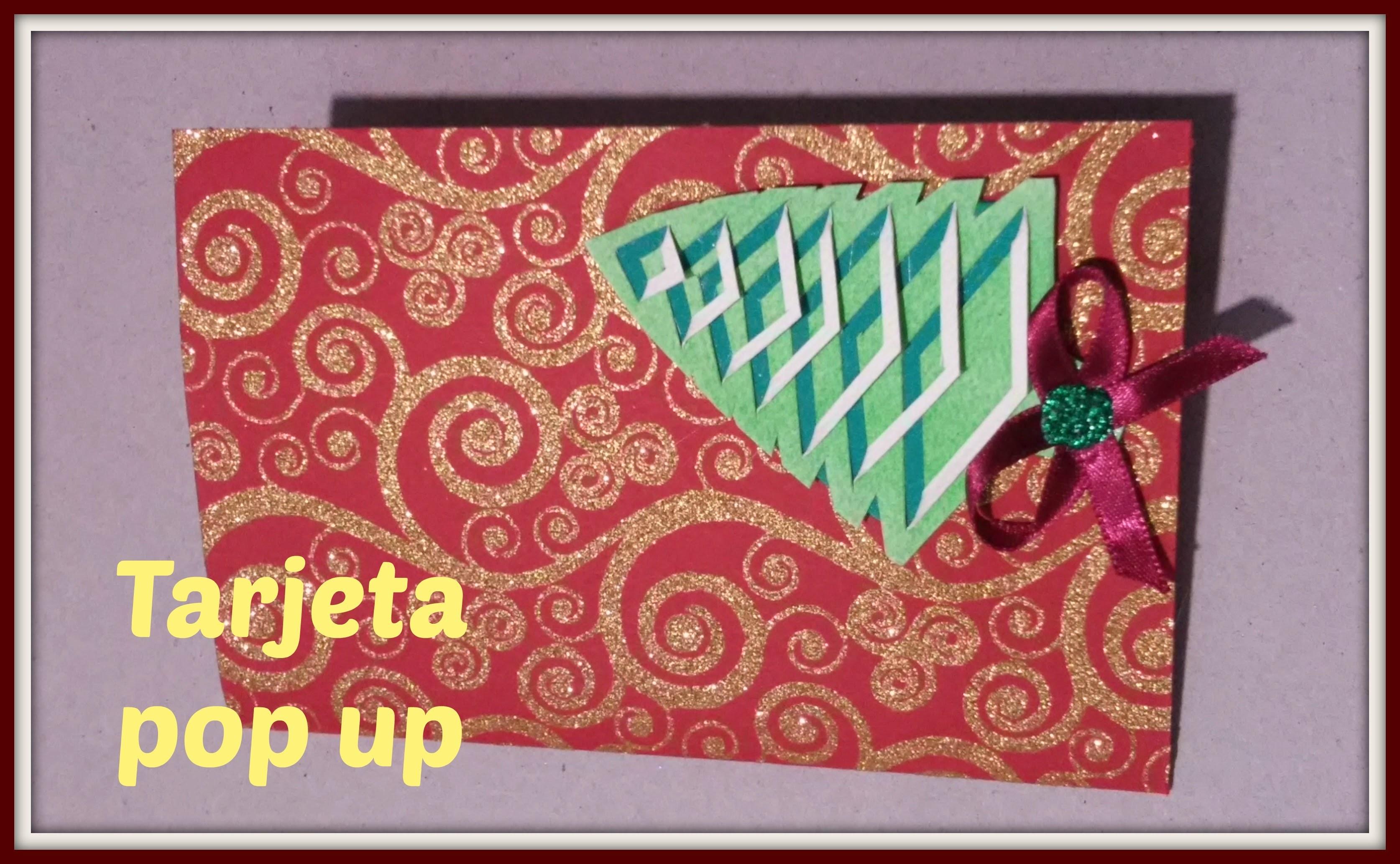 DIY | Tarjeta pop up para navidad | fácil y rápido | regalo original