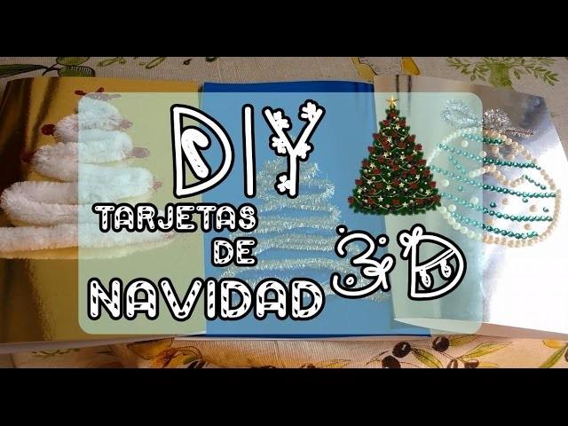 DIY TARJETAS NAVIDEÑAS   Ideas 3D árbol de Navidad   Christmas card