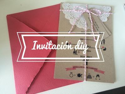 Invitaciones Diy de la cukinovia( dydychic )