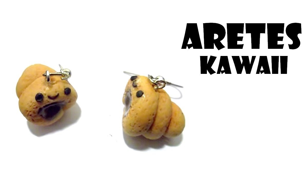 Aretes de Panesitos Kawaii ♥ Tutorial ●ω●. ♥ Kawaii earrings bread ♥  Porcelana fria