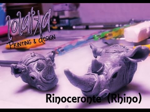 AVANZADO -  ADVANCED - DIY Tutorial Polymer Clay Rinoceronte (Rhinoceros)