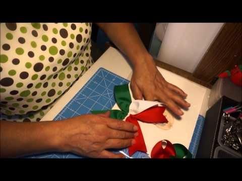 DIY Como hacer un moño patrio o tricolor!! DIY [3]