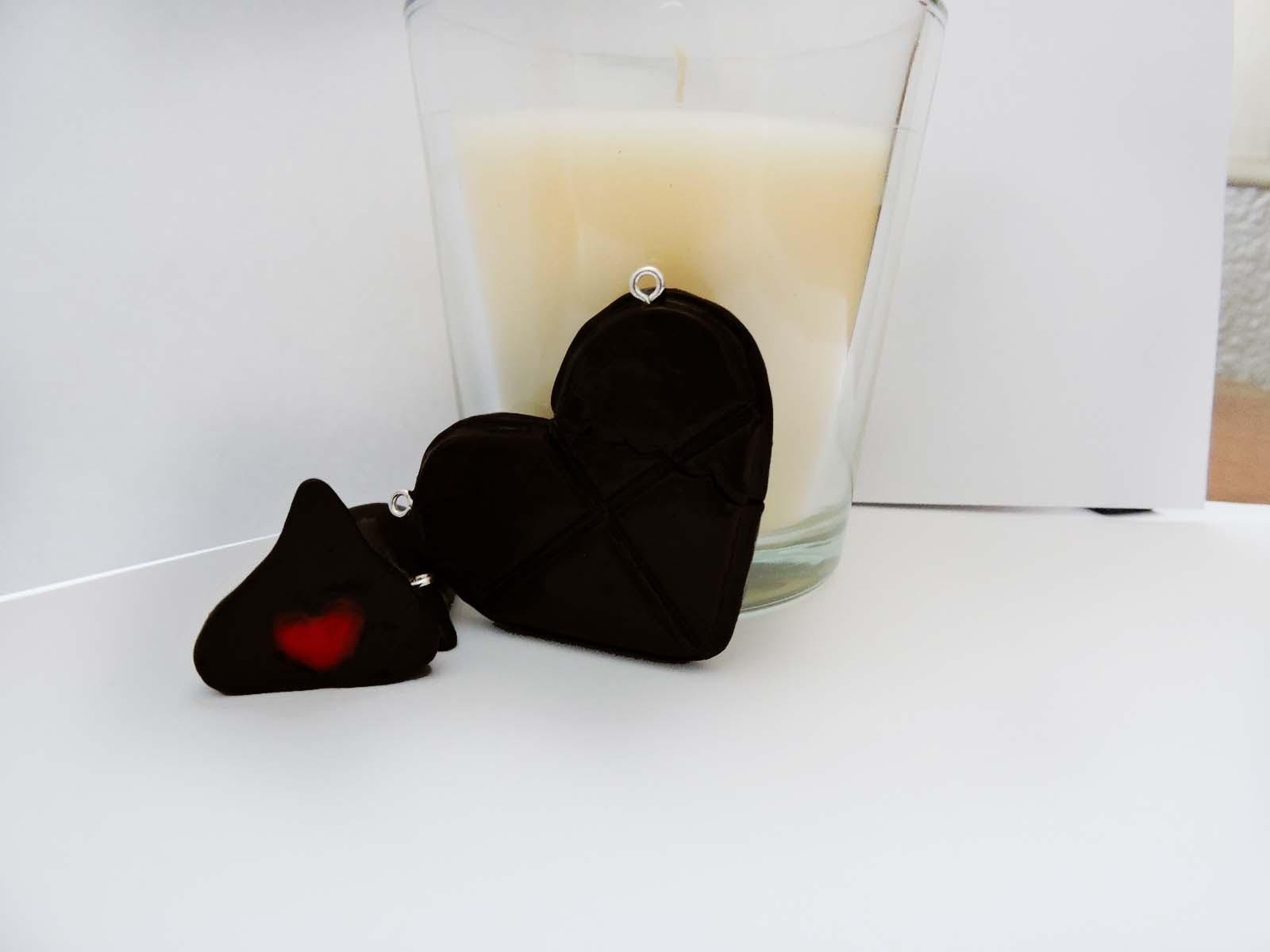 DIY❤Corazon de Chocolate(arcilla polimerica)