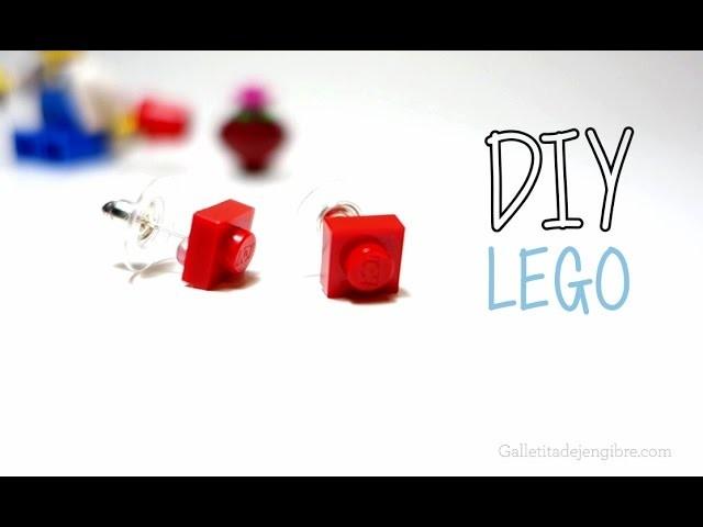 DIY Lego -  Aretes de lego - Super facil