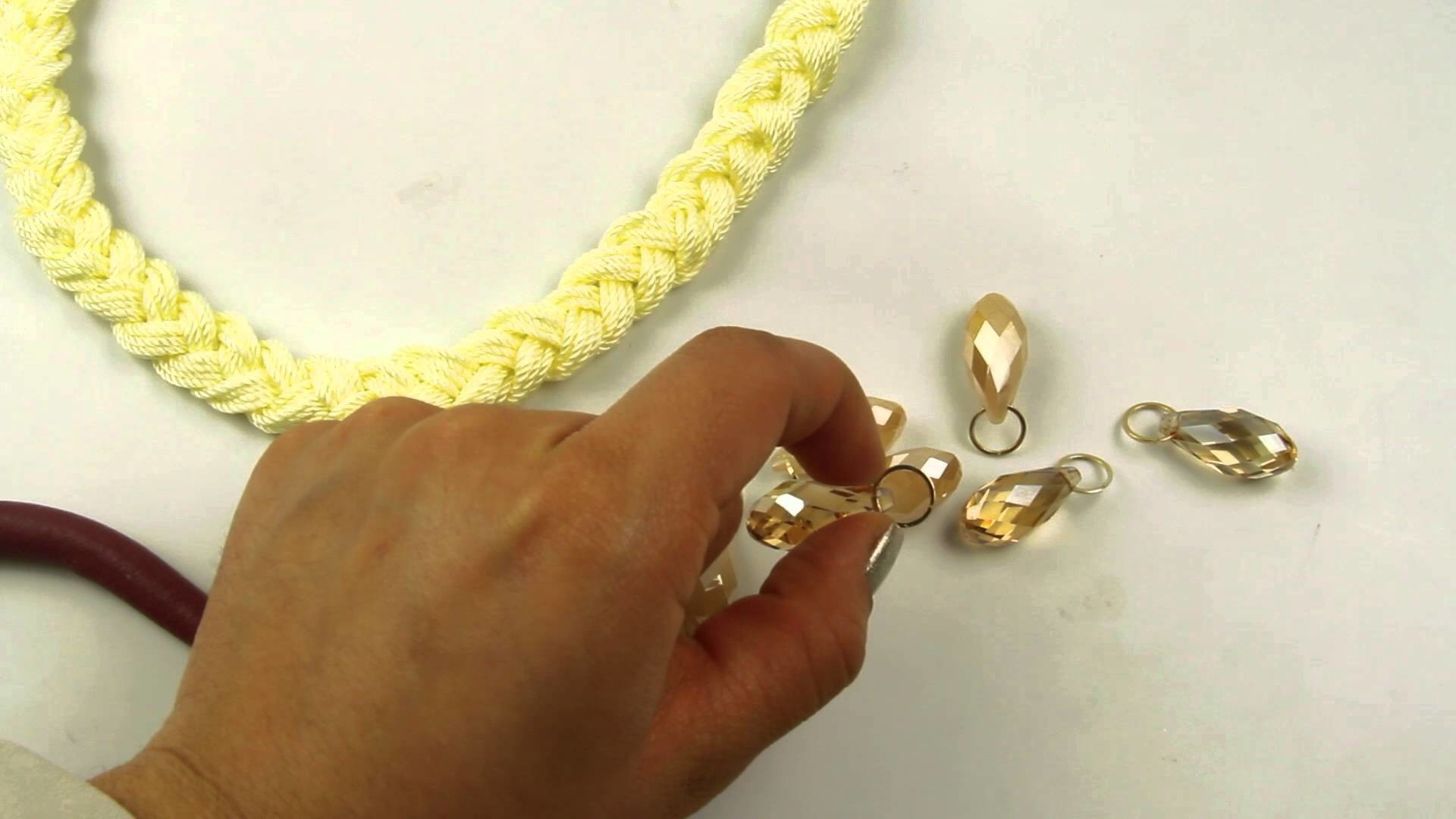 El Galeón DIY Collar de Hilo Nylon con Cristal