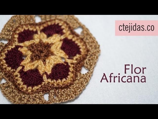 Tutorial Flor Africana a Crochet