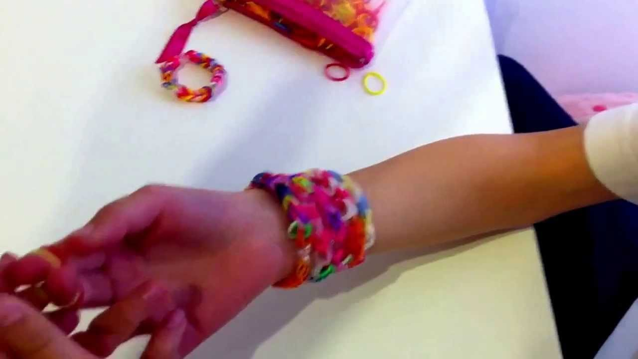 Tutorial pulseras Cracy looms básicas de 4 gomitas