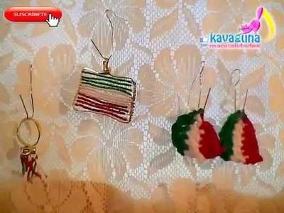 DIY Anillo, Dije y aretes para estas fiestas mexicanas (16 de septiembre)