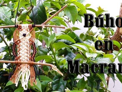 DIY Búho de Macramé. DIY Macrame Owl - MikoSaa