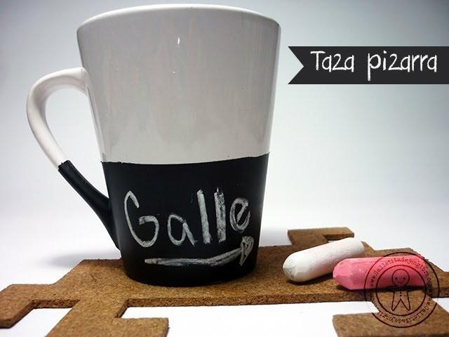 DIY chalkboard mugs - Taza Pizarra