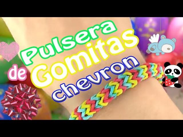 Tutorial: ♥ Cómo hacer Pulseras de gomitas - cuerdas chevron ♥ (sin telar)