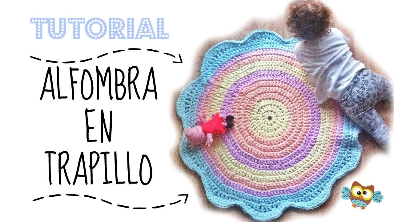 Tutorial diy alfombra en trapillo bonita y f cil - Tutorial alfombra trapillo ...