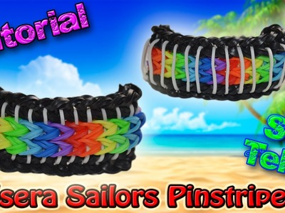 ♥ Tutorial: Pulsera Sailors Pinstripes (sin telar) ♥