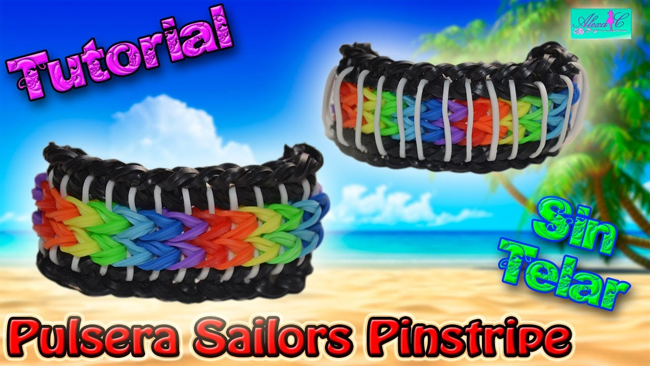 ♥ Tutorial: Pulsera Sailors Pinstripes (sin telar) ♥