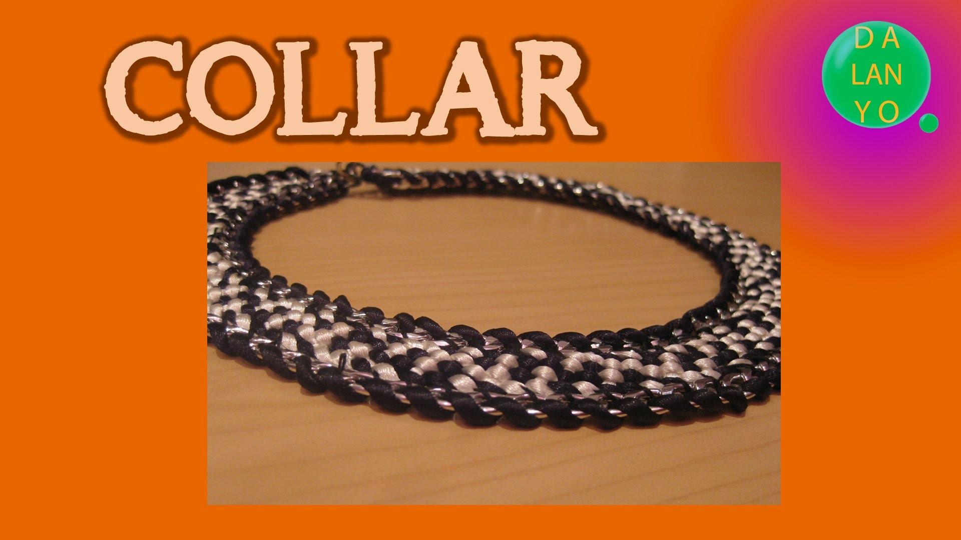 Collar plateado con cadena metalica | Collares Kumihimo | Tutorial | Es.Pandahall.com