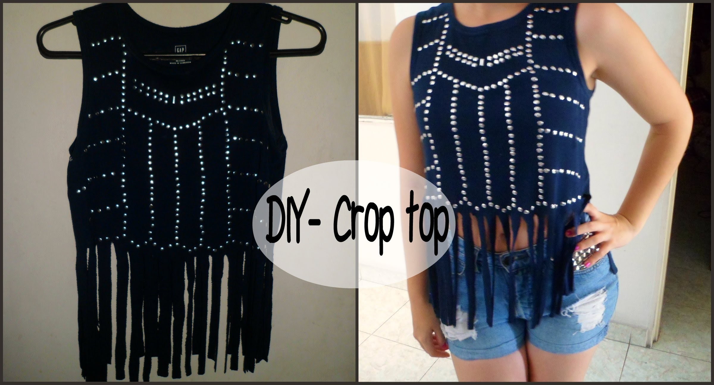 DIY- Transforma tus camisetas en un crop top de verano estampado