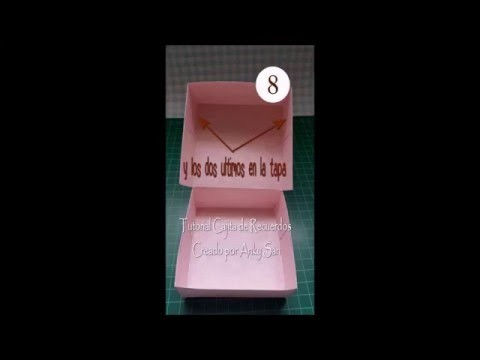 Mini tutorial cajita para recuerdos (Scrapbook)