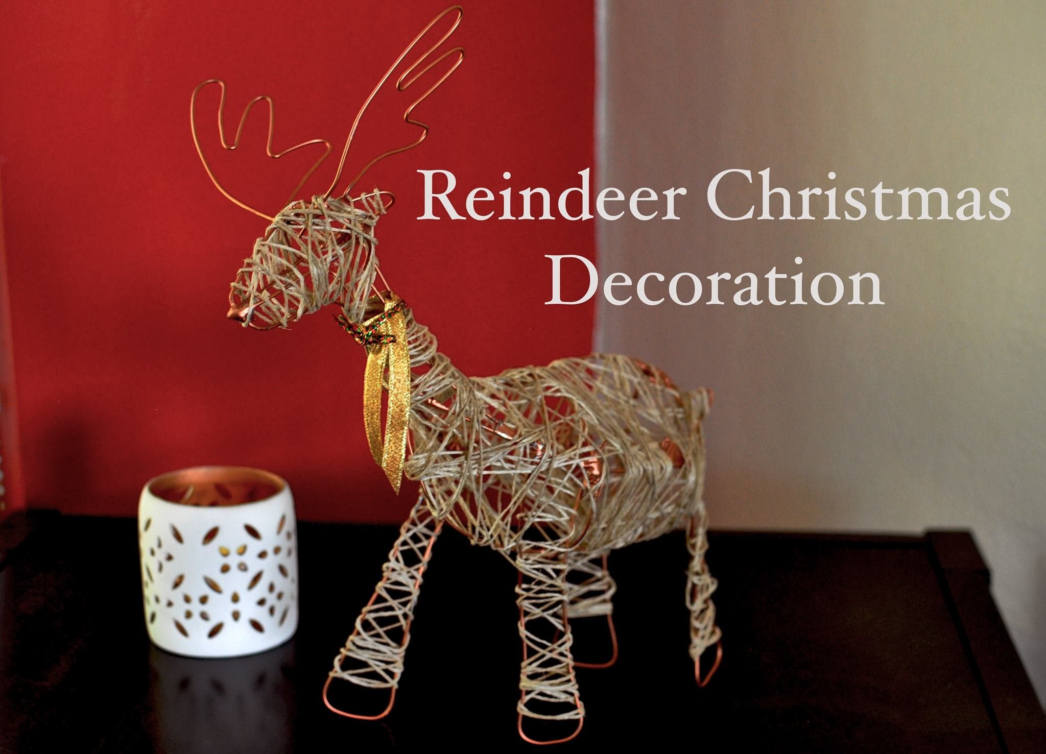Reindeer Christmas Decoration (Tutorial)