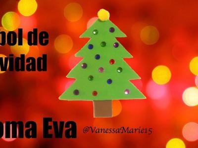 Tutorial: Adorno Navideño Árbol de Navidad -Goma Eva (Foamy) | Navidad