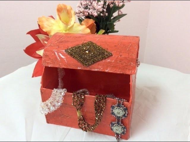 Tutorial como decorar un Baul de Cartón -Tutorial how to decorate a trunk Cardboard