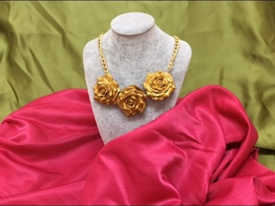 Tutorial paso a paso como hacer Collar de pasta FIMO-Pasta necklace FIMO