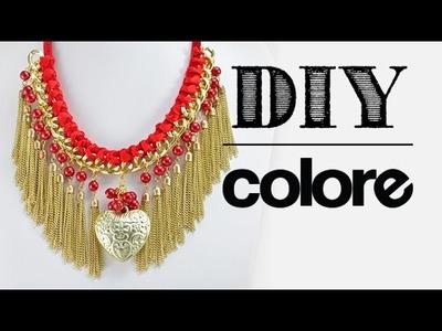 DIY: Collar con Cadena y Dije Corazón - Colore Accesorios