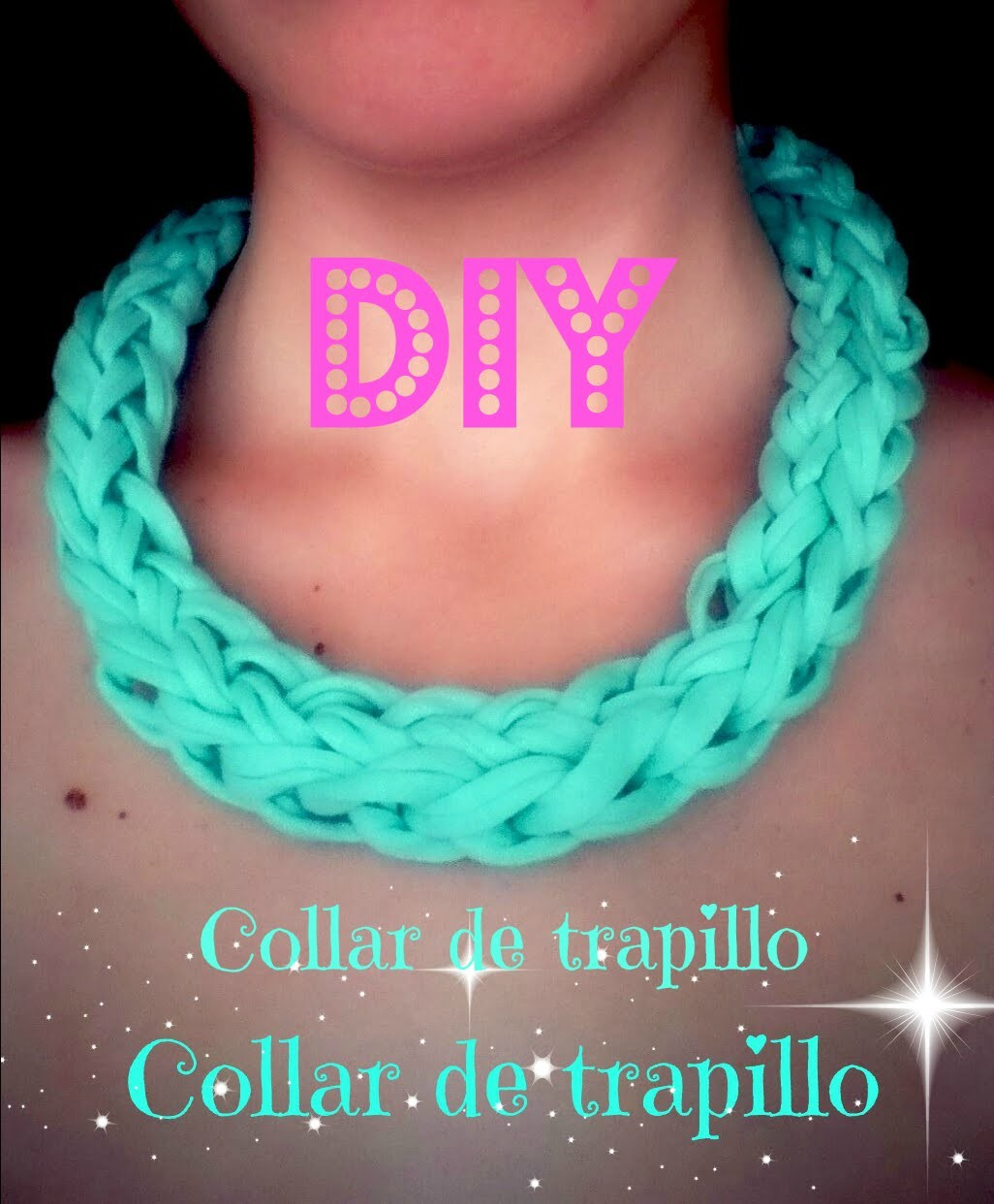 DIY Collar de trapillo en 5 minutos.5 minutes Necklace