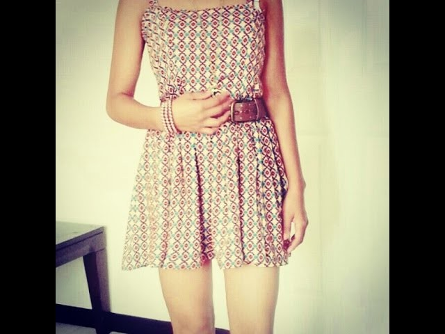 DIY, Easy Mini Dress.