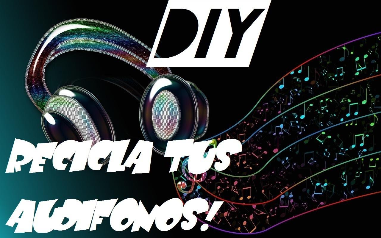 DIY~Recicla tus audifonos! Haz tu propia gargantilla ´• ω •`