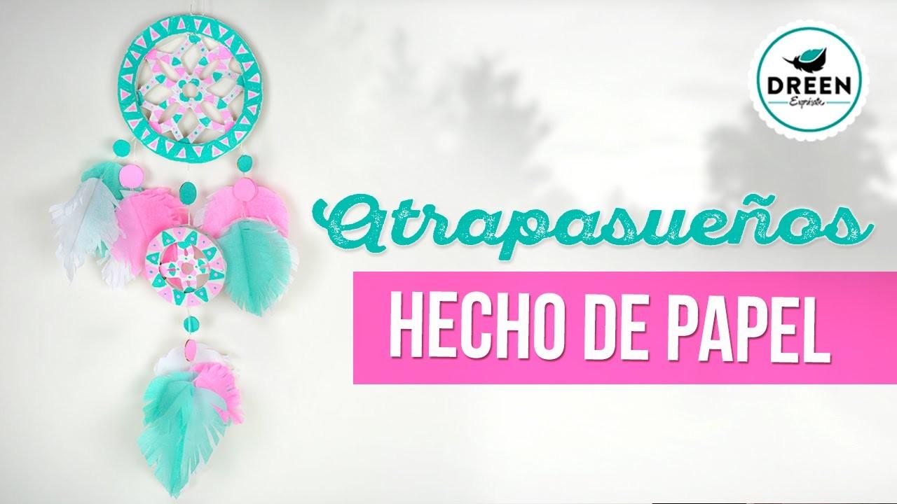 DIY SUPER FACIL Atrapasueños de papel sin tejer | DREEN